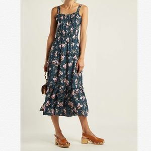 Rebecca Taylor Emilia Tank Silk Floral Print Dress